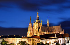 noc grodowa Prague Zdjęcie Stock
