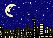 noc gwiaździsta ilustracji
