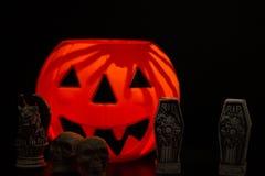 noc halloween sceny ilustracyjny wektora zdjęcie stock