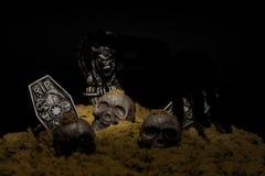 noc halloween sceny ilustracyjny wektora obrazy royalty free
