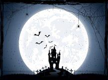 Noc halloweenowy tło Zdjęcia Stock