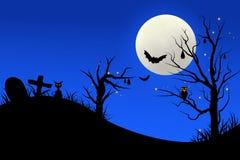 Noc halloweenowy tło Obrazy Royalty Free