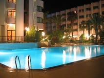 noc hotelowy basen Obraz Royalty Free