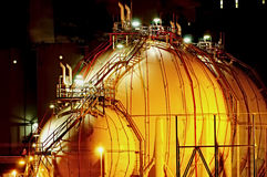noc instalacji chemicznej zdjęcia stock