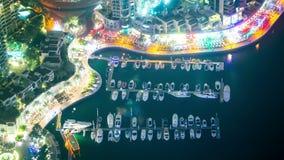 Noc jachtu miejsca czasu lekki wysoki upływ od Dubai zdjęcie wideo