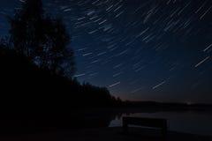 Noc jezioro Obrazy Royalty Free