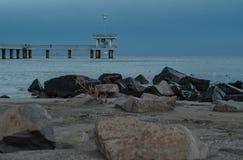 Noc kamienia plaża Obrazy Royalty Free