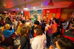 Noc klubu wnętrze Fotografia Royalty Free