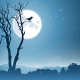 Noc krajobraz ilustracja wektor
