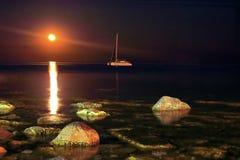Noc krajobraz Obraz Royalty Free