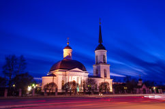 Noc krajobraz kościół Zdjęcie Royalty Free