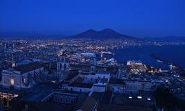 Noc krajobraz miasto Naples zdjęcie stock