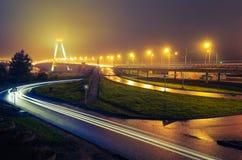 Noc krajobraz most Obraz Royalty Free