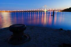 Noc krajobraz rzeka Zdjęcie Stock