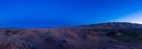 Noc krajobraz w pustyni Fotografia Royalty Free