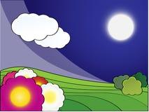 noc krajobrazowa wiosna Fotografia Stock