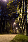Noc lekcy światła Zdjęcia Royalty Free