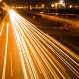 noc lekki ruch drogowy Obraz Royalty Free