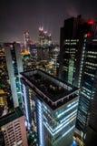 noc linia horyzontu Tokyo Zdjęcie Stock