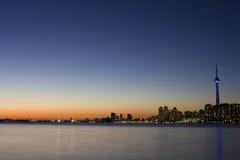 noc linia horyzontu tronto Obrazy Stock