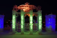 noc lodowe rzeźby Fotografia Stock