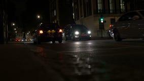 Noc Londyński Uliczny ruch drogowy zbiory