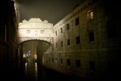 Noc mgłowy Venice Fotografia Stock