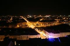 noc miasteczko Obrazy Stock