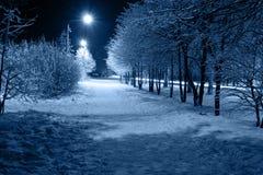 noc miasteczko Zdjęcia Stock
