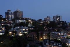 noc mieszkaniowy przedmieścia Zdjęcie Royalty Free
