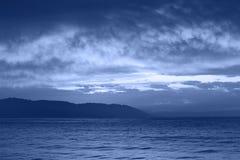 noc morze obrazy stock