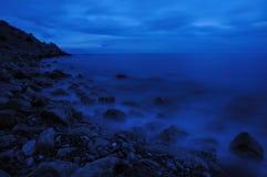noc morze Zdjęcie Stock