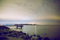 Noc na morzu bałtyckim Obraz Royalty Free