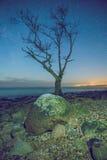 Noc na morzu bałtyckim Obrazy Royalty Free