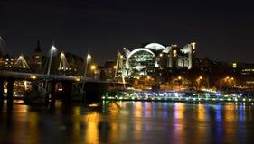 noc nad strzałem Thames Zdjęcia Stock