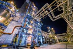 noc navodari rafinerii ropy naftowej Romania Fotografia Royalty Free