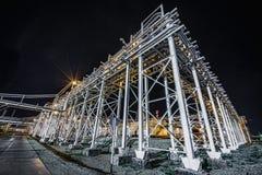 noc navodari rafinerii ropy naftowej Romania Zdjęcie Stock