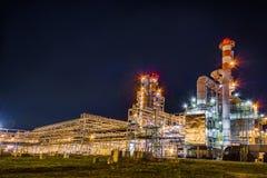 noc navodari rafinerii ropy naftowej Romania Zdjęcia Stock