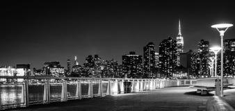 noc nowa linia horyzontu York Obrazy Stock