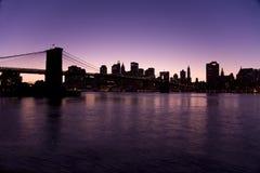 noc nowa linia horyzontu York Zdjęcia Stock