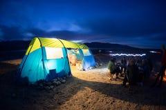 Noc obóz Fotografia Royalty Free