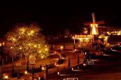 Noc ogród Obrazy Royalty Free