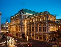 noc opery stan Vienna Zdjęcie Stock