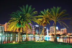 noc Orlando scena Fotografia Stock