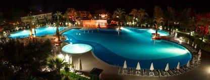 noc panoramy basen Obrazy Royalty Free