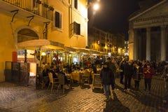noc panteon Rome Zdjęcia Royalty Free