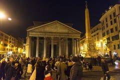 noc panteon Rome Zdjęcie Stock