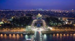 noc Paris Zdjęcia Stock
