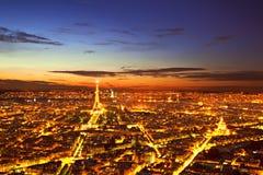 noc Paris Obraz Stock