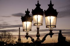 noc Paris Obrazy Royalty Free